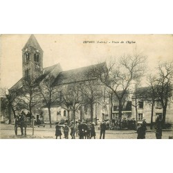 37 SEPMES. Grosse animation Place de l'Eglise vers 1920...