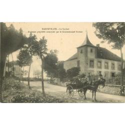 54 BADONVILLER. Attelage devant le Conventionnel Souhait 1915