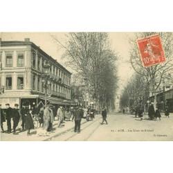 81 ALBI. Grand Café sur les Lices de Rhônel 1910