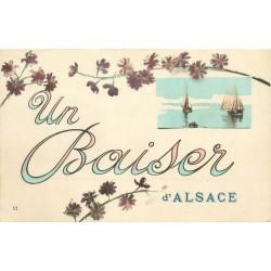 3 x Cpa 68 ALSACE. Un Baiser, un Bonjour et un Souvenir 1918