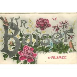 2 x Cpa 68 ALSACE. Un Baiser et bons Souvenirs 1918