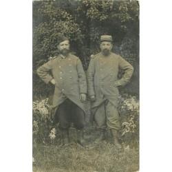 Militaires Casernes Soldats. Photo carte postale de 2 poilus du 87° Régiment Infanterie