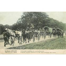 GUERRE 1914-18. Colonnes anglaises de ravitaillement militaire 1915