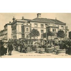 81 ALBI. Le Marché aux Futailles et le Théâtre 1919