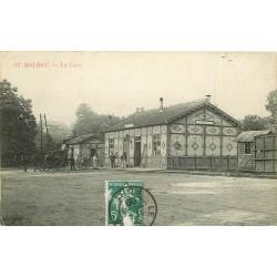 76 BOLBEC. Attelage de l'Hôtel de France devant la Gare 1909