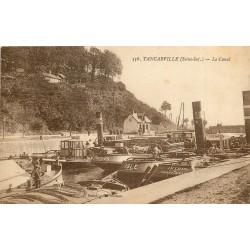 76 TANCARVILLE. Péniches Touques, Isle et Artois sur le Canal 1914
