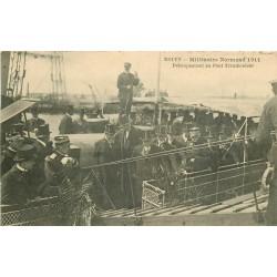 76 ROUEN. Millénaire Normand 1911 débarquement des Officiels au Pont Transbordeur