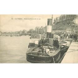 76 LE TREPORT. Bateau de Retour de Promenade en mer 1907