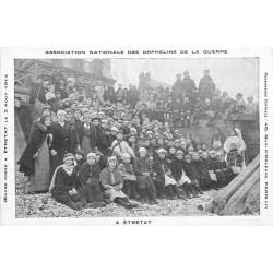 76 ETRETAT. Association Nationale des Orphelins de la Guerre créée en 1914 au 40 Quai d'Orléans à Paris