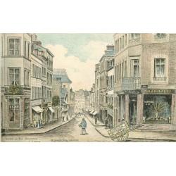 76 ROUEN. Pharmacie et Café rue Beauvoisine par Légeron