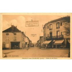 42 POUILLY-SOUS-CHARLIEU. Magasin Casino route de Saint-Nizier 1936