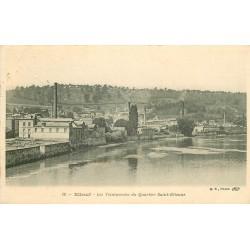 76 ELBEUF. Les Teintureries du Quartier Saint-Etienne 1910