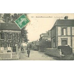 76 SAINT-PIERRE-EN-PORT. Hôtel de la Boule d'Or sur Grande-Rue 1913