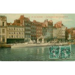 76 LE HAVRE. Un Torpilleur dans l'Avant-Port 1914
