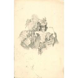Illustrateur VIENNE. Les femmes aux lorgnons 1907