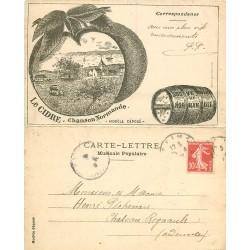 76 LE HAVRE. Chanson normande sur le Cidre par Lechantre vers 1909