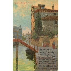 Italie. VENEZIA VENISE. Ognissanti Ponente carte grumelée 1903