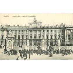 Espagne. MADRID. Palacio Real Plaza de la Armeria