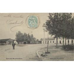 17 SAINT-JEAN-D'ANGELY. La Gare de Marchandises et Voyageurs 1906