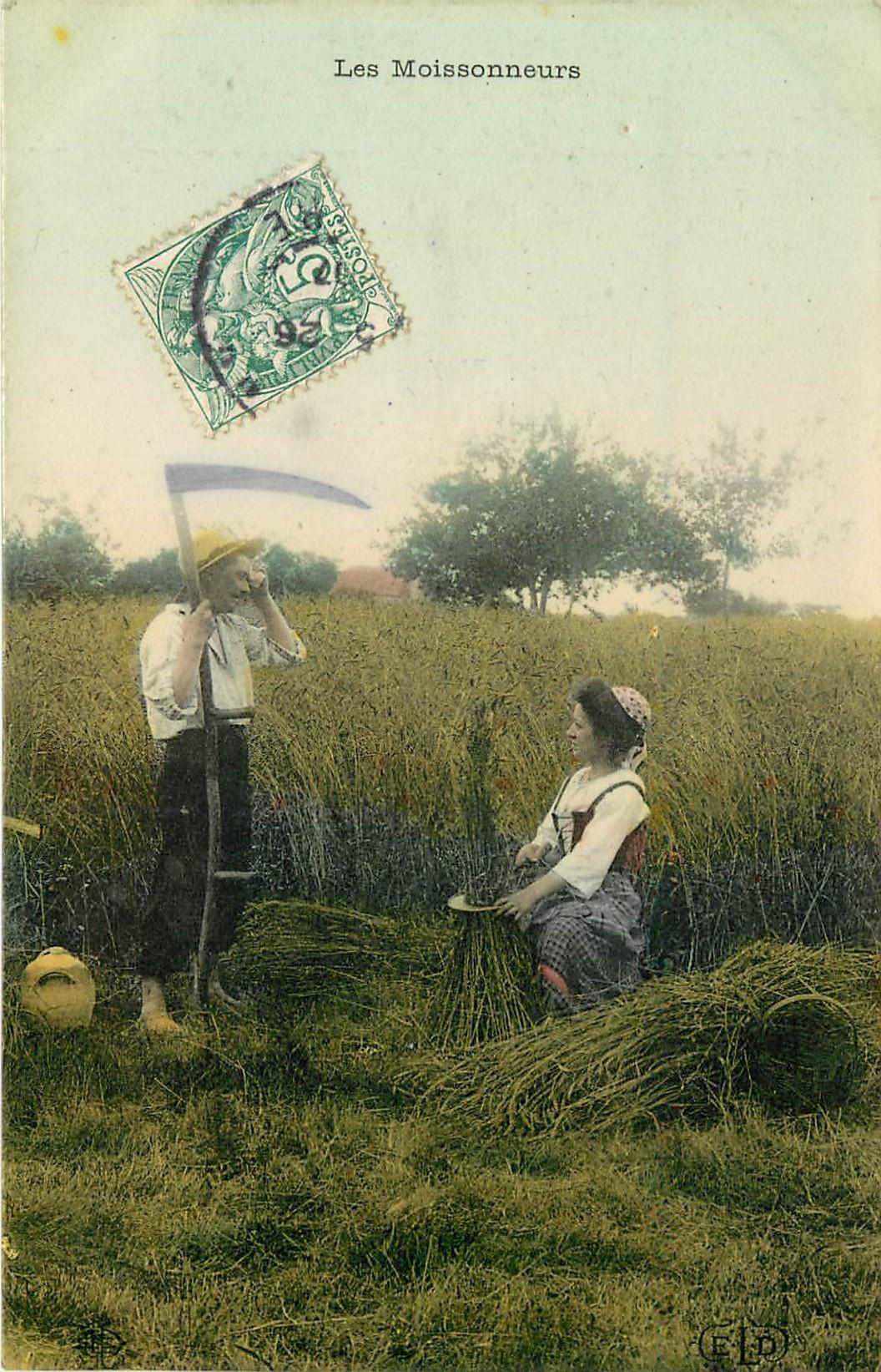 METIERS DE LA CAMPAGNE. Le Repos des Moissonneurs 1907