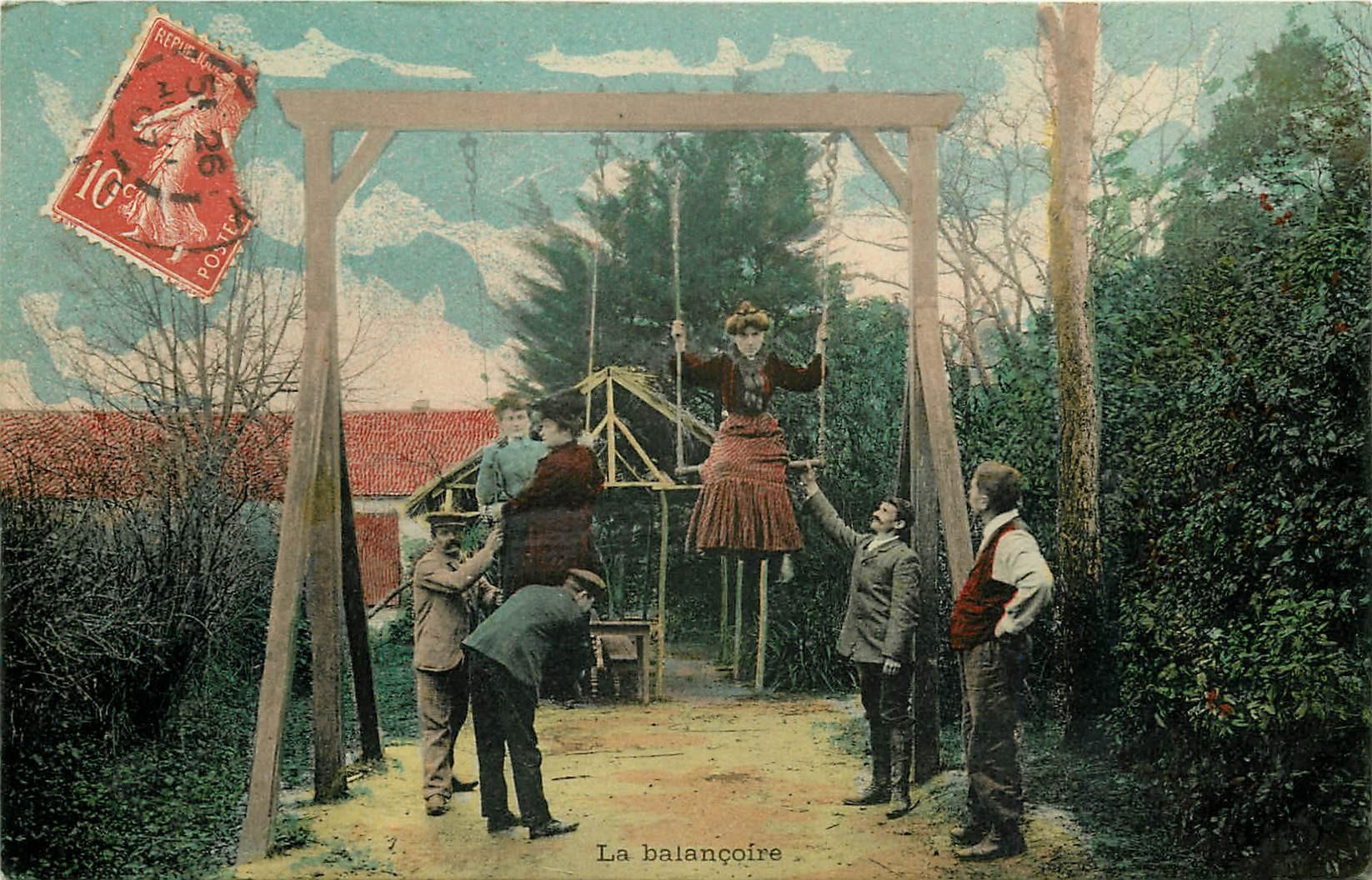 JEUX A LA CAMPAGNE. La Balançoire 1907