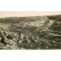 MAROC. Rare Photo carte postale d'une Mine à ciel ouvert