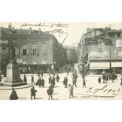 87 LIMOGES. Bar Américain et Epicerie Centrale Place Denis Dussoubs 1903
