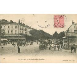 31 TOULOUSE. Tramway à chevaux et Restaurant Albrighi Boulevard de Strasbourg 1908