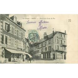 19 USSEL. Pharmacie Laly Place de la Croix de Fer 1906