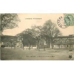 07 MEYSSE. Mairie et Poste sur la Place 1907