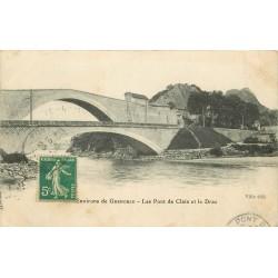 38 vers GRENOBLE. Les Ponts de Claix et le Drac 1911