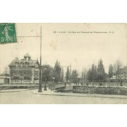 59 LILLE. Pont et Avenue de l'Hippodrome