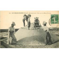 85 LES SABLES-D'OLONNE. Un Mulon de sel avec une visite aux Marais salants 1913