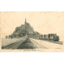 50 MONT-SAINT-MICHEL. Train sur Côté sud 1905