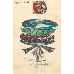 """LA MODE en 1909. Superbe chapeau """" Le Sourire n° 143 """" par Roberty"""