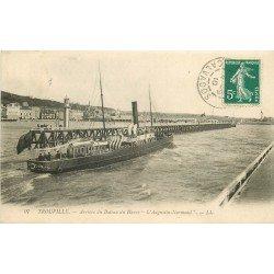 carte postale ancienne 14 TROUVILLE. Bateau du Havre Augustin-Normand 1910