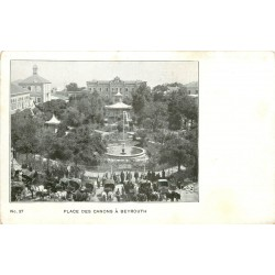 LIBAN. Beyrouth Place des Canons vers 1900