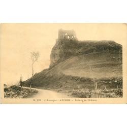 15 APCHON. Ruines du Château