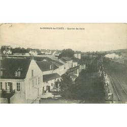 03 SAINT-GERMAIN-DES-FOSSES. Gendarmerie et train au Quartier des Aures