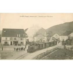 88 SAINT AME. Train Tramway à vapeur pour Gérardmer 1917