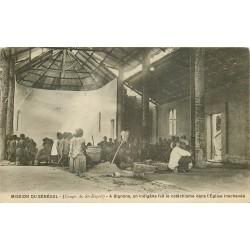 SENEGAL. Le Cathéchisme dans l'Eglise inachevée à Bignona 1924