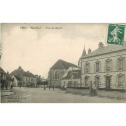 89 SAINT-VALERIEN. Place du Marché 1911