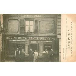 75012 PARIS. Café Restaurant Décolle au 177 rue de Charenton 1904