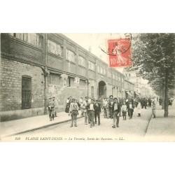 93 PLAINE SAINT-DENIS. Sortie des Ouvriers de la Verrerie Cristallerie Legras 1914