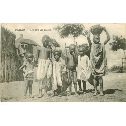 SENEGAL. Groupe de Noirs à Dakar 1910