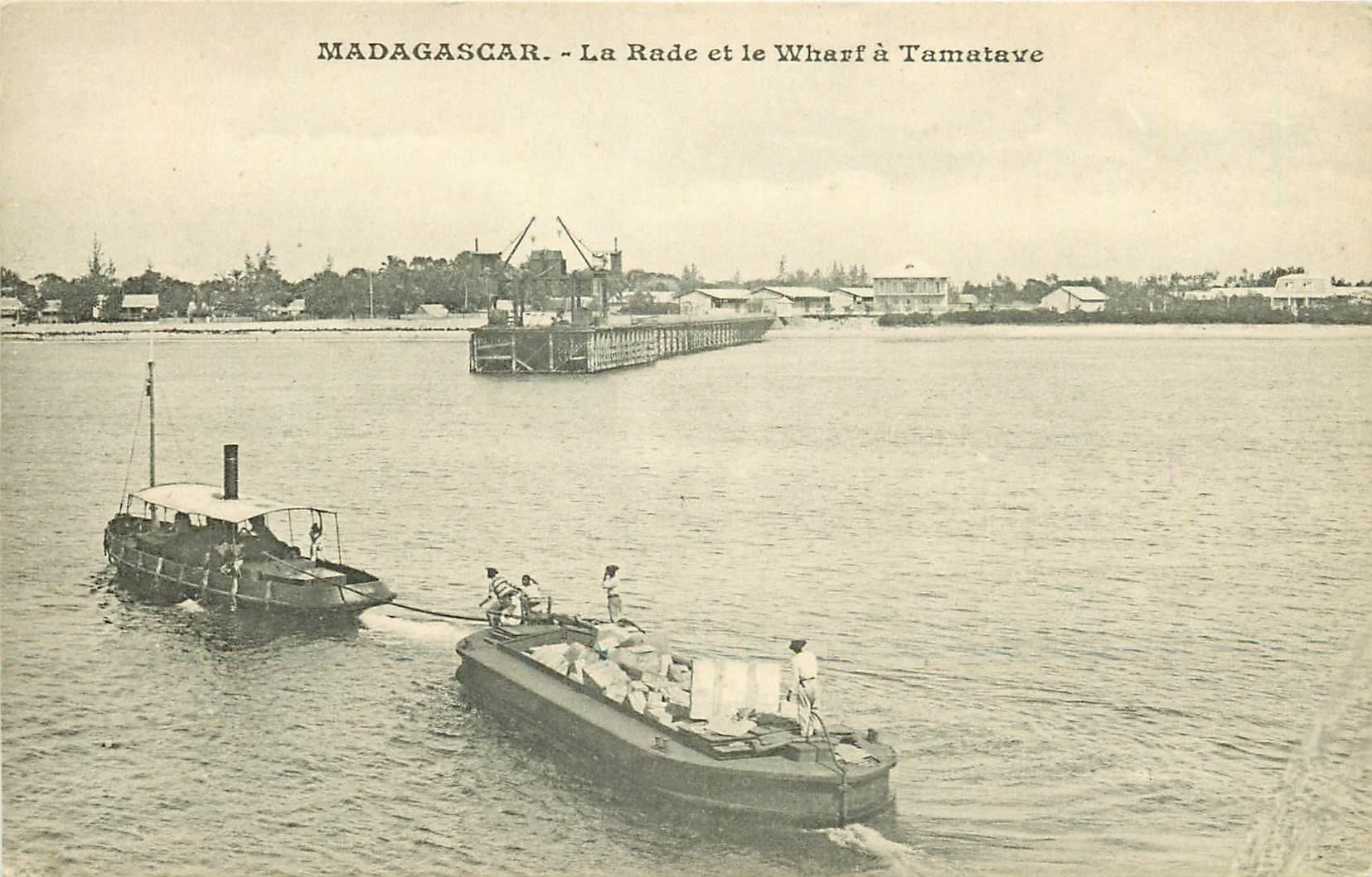 MADAGASCAR. La Rade et le Wharf à Tamatave