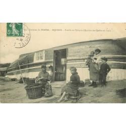 62 EQUIHEN. Famille de Pêcheurs Quartier des Quilles en l'air