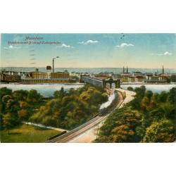 ALLEMAGNE. Train à Mannheim 1921