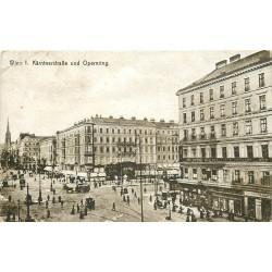 AUTRICHE. Kärntnerstrasse und Opernring à Wien Vienne 1922