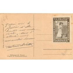 68 MULHOUSE & MULHAUSEN. Superbe timbre de la Veuve Seiffer Librairie Papeterie